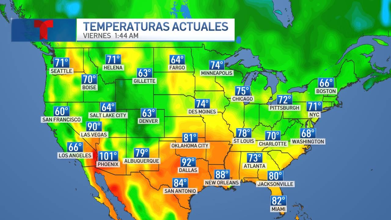 Temperaturas Actuales Estados Unidos